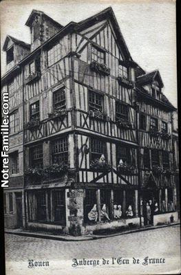 cartes-postales-Auberge-de-l-Ecu-de-France-ROUEN-