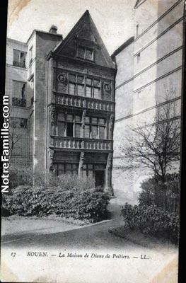cartes-postales-La-Maison-de-Dianne-Poitiers--LL-ROUEN-