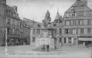 Rouen_froidure_Place_de_la_Pucelle_1915